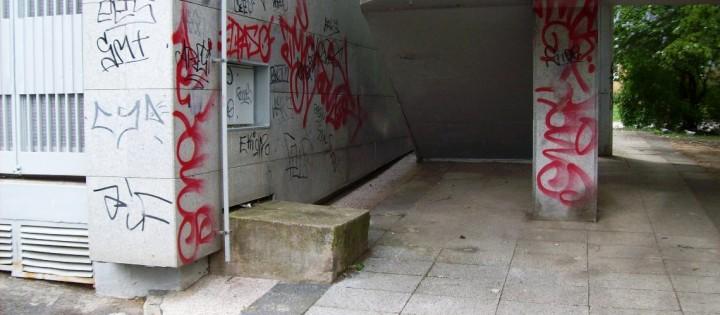 Odstranění graffiti z pouličních zdí Brno